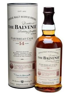 The Balvenie Scotch Single Malt 14 Year Rumwood Carribean Cask